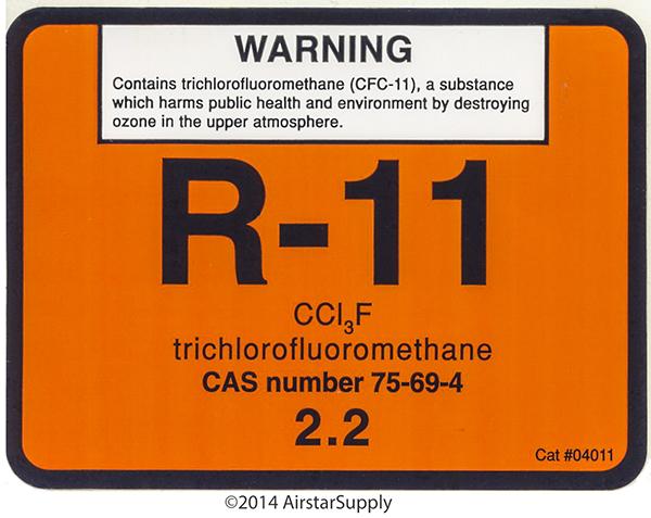 Refrigerant ID Labels - AC Refrigeration Labels - AC Refrigeration ...
