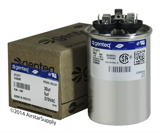 GENTEQ C3305R genteq dual capacitors , formerly ge industrial 370 & 440 vac  at mifinder.co