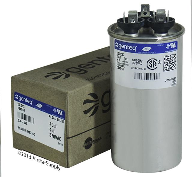 GENTEQ C3404R genteq dual capacitors , formerly ge industrial 370 & 440 vac  at mifinder.co